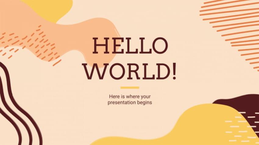 Orange Memphis - Pastel Color PowerPoint Templates Free Download