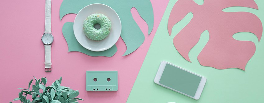 Panoramic View of Pastel Desk a strong high-resolution image from Envato Elements