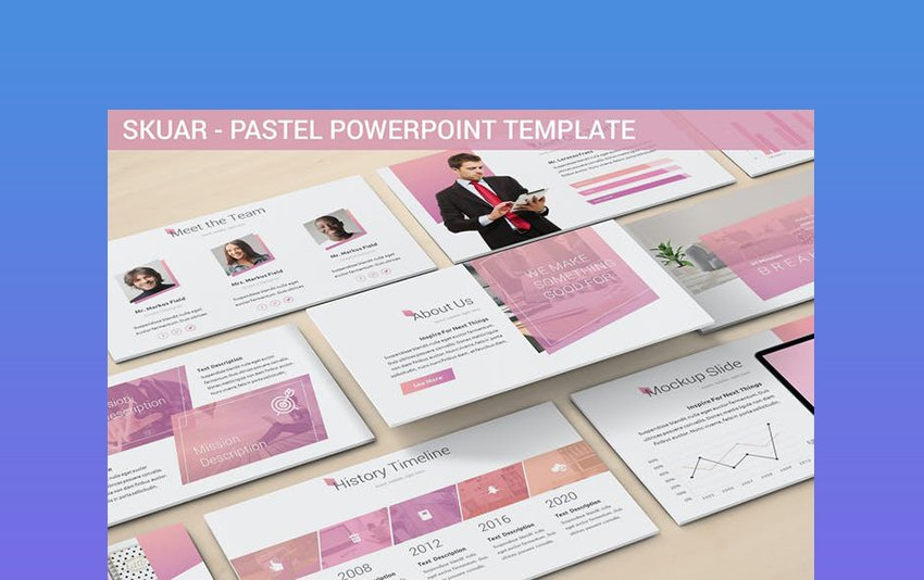 Skuar - PowerPoint Background Pastel Pink