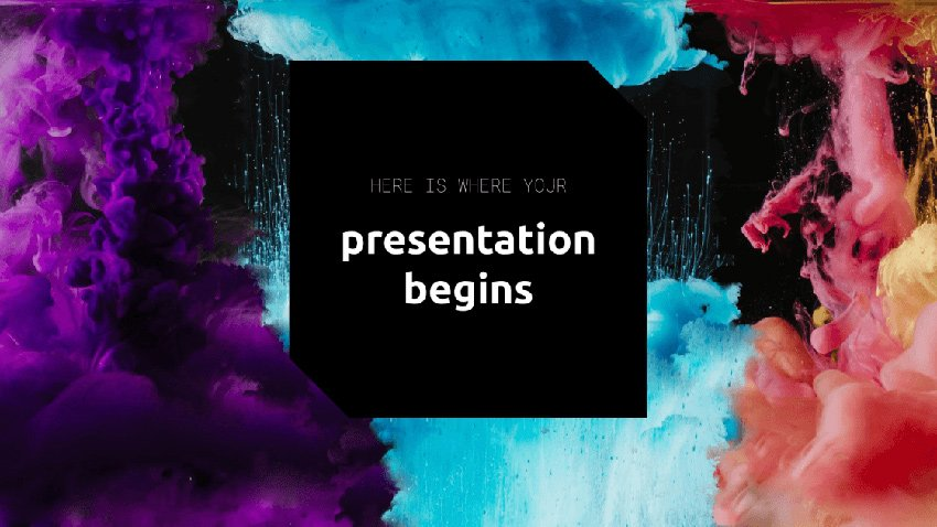 Colorful Ink - Free Dark Presentation Background