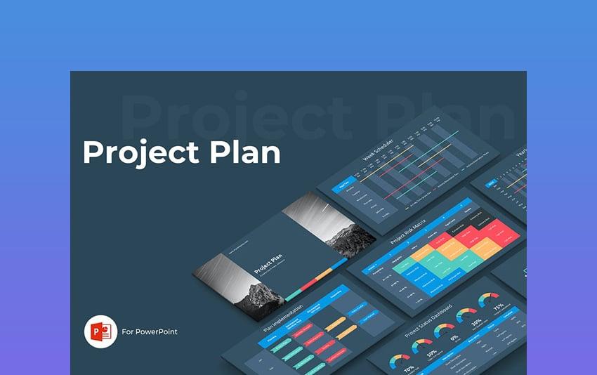 Project Plan - Dark Presentation Background Template