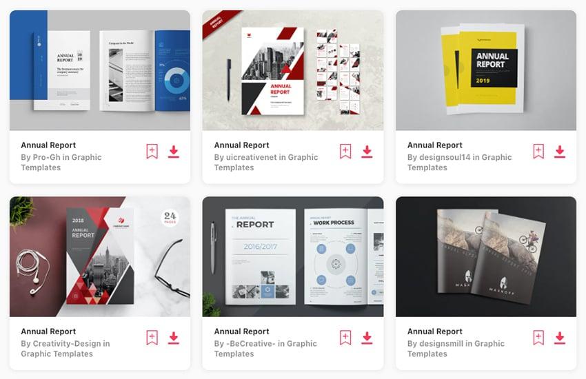Discover loads of premium annual report templates on Envato Elements