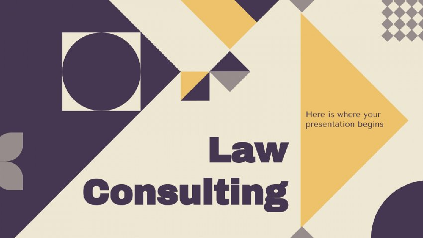 Law Consulting - Free 80s PowerPoint Template