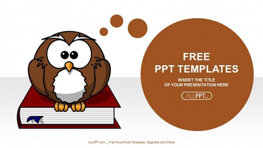 Owl - Cartoon Character PowerPoint Templates Free Download