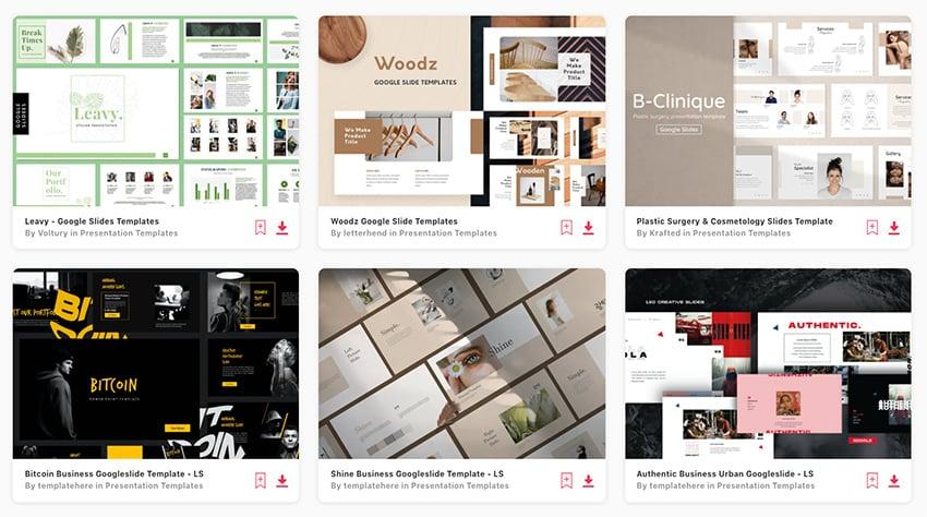 Find loads of premium aesthetic Google Slides on Envato Elements