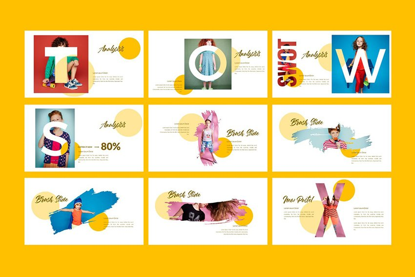 New Pastel Business Google Slides Presentation a premium template on Envato Elements that uses loads of visuals