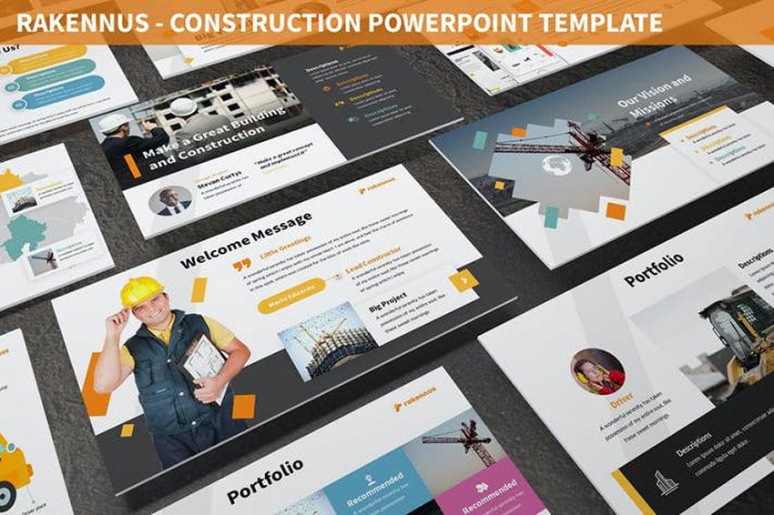 Rakennus - Architectural PPT Template a premium template on Envato Elements