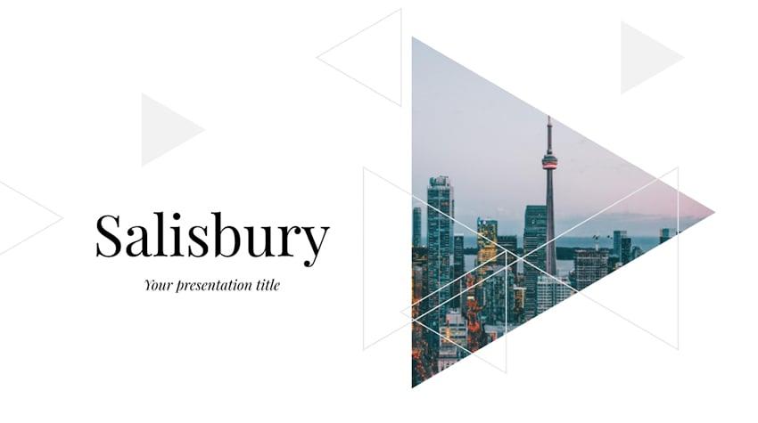 Salisbury - Free Architecture Portfolio PowerPoint Template