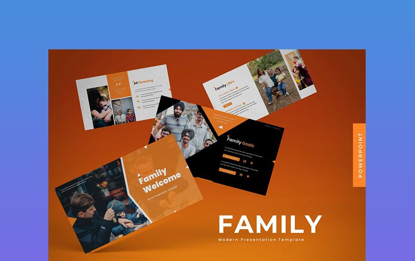 Welcome Family - PowerPoint Template