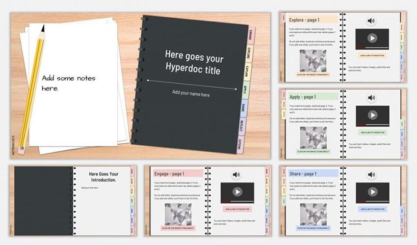 Hyperdoc Handbook - Free PowerPoint Storyboard Templates Download