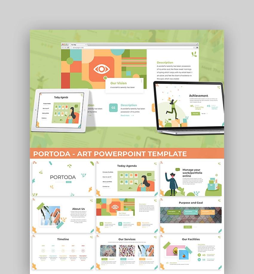 Portoda - Art PowerPoint Template