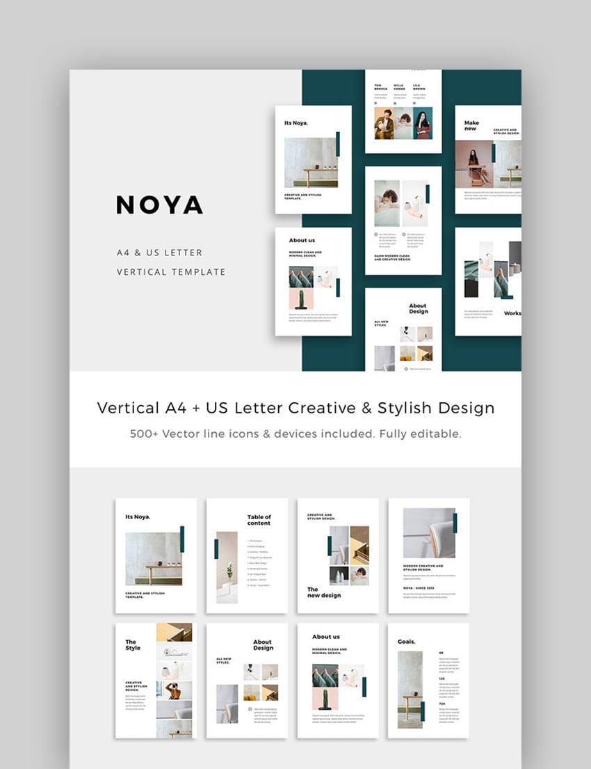 NOYA - Vertical eBook PowerPoint Presentation Template
