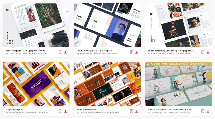 Premium eBook PowerPoint template downloads from Envato Elements