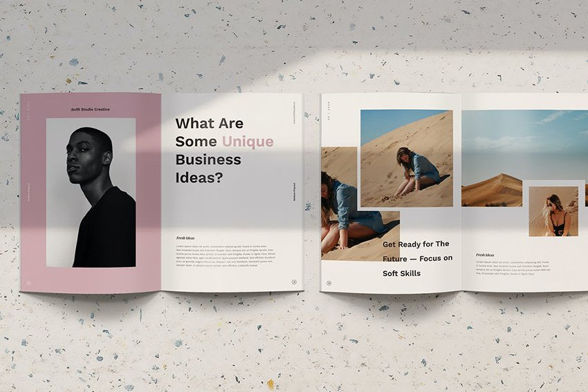 Snift - Vertical PowerPoint a minimalistic eBook template of Envato Elements