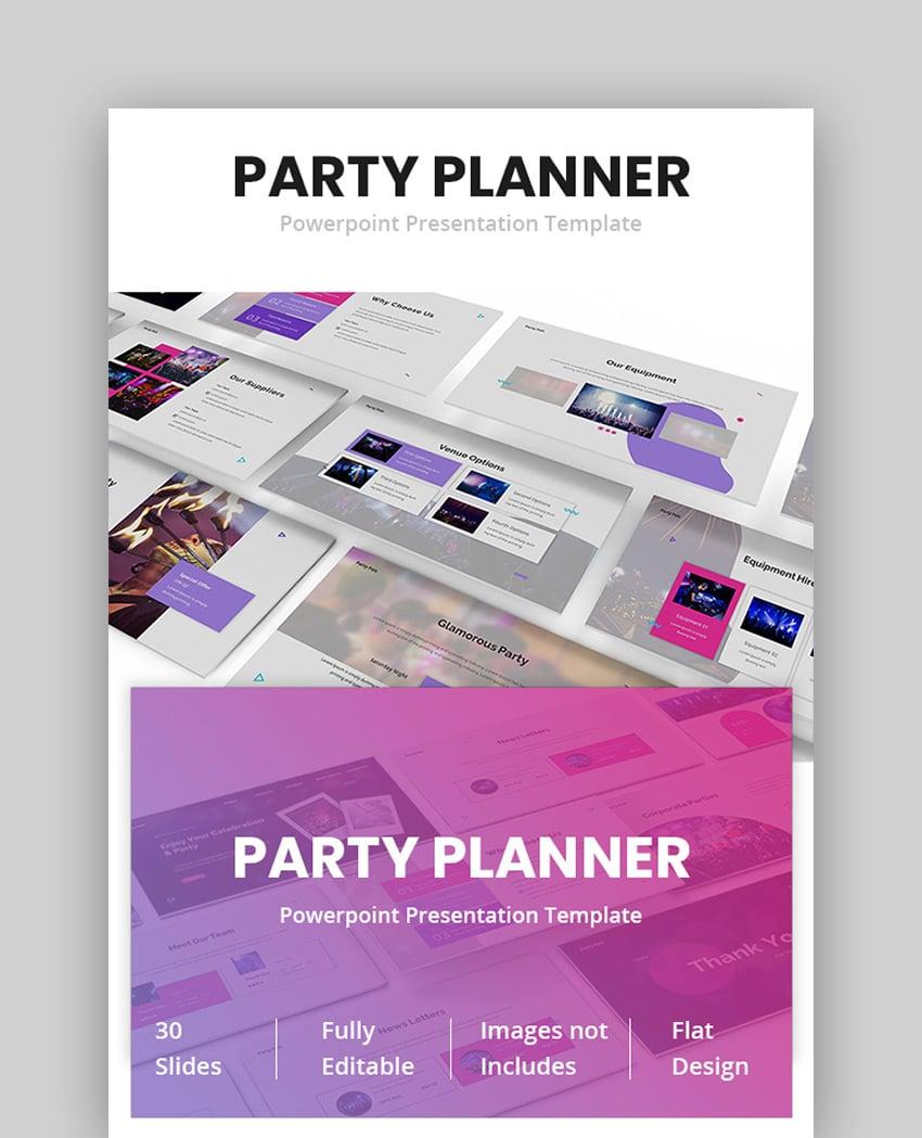 Party Planner - Birthday PowerPoint Slides
