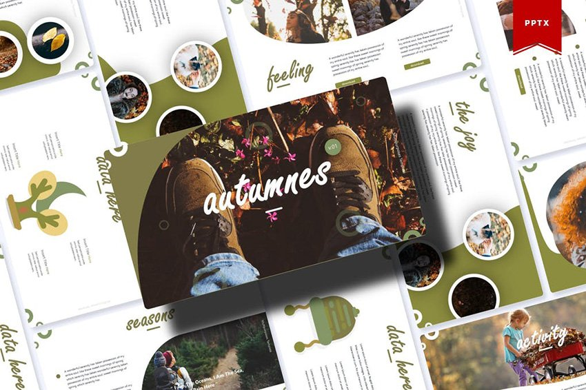 Autumnes - Autumn and Thanksgiving PPT Template a premium template from Envato Elements