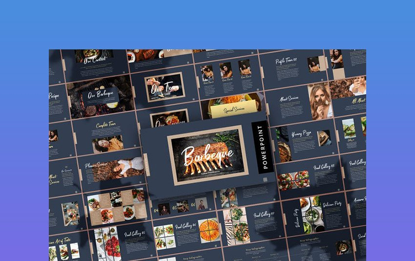 Fall Barbeque - Thanksgiving Slide Template