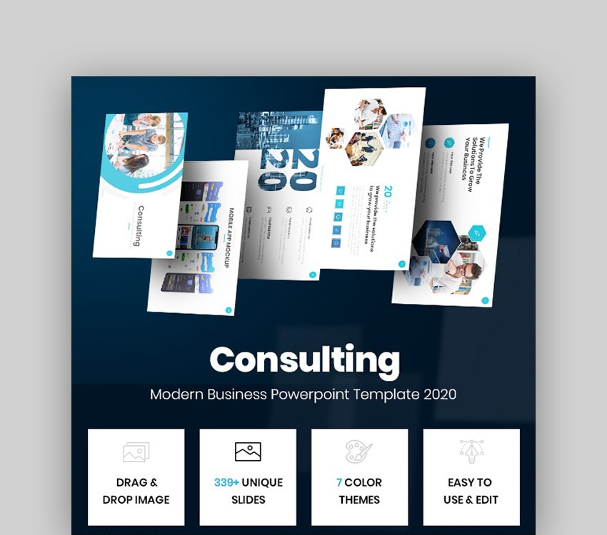 Consulting - Modern Business Powerpoint Template 2020