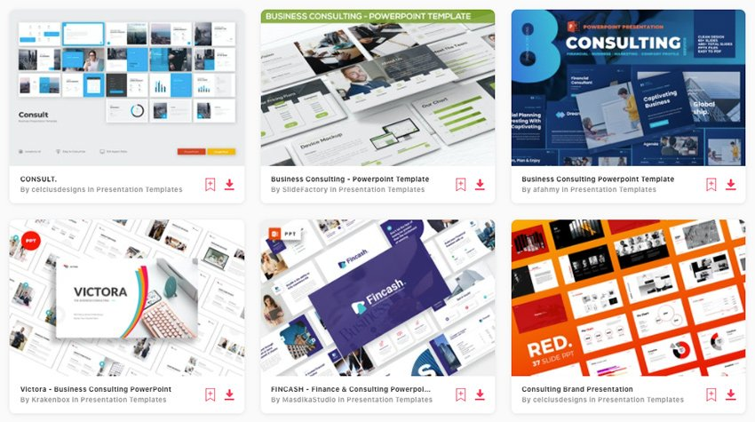 Premium Consulting PowerPoint Templates on Envato Elements