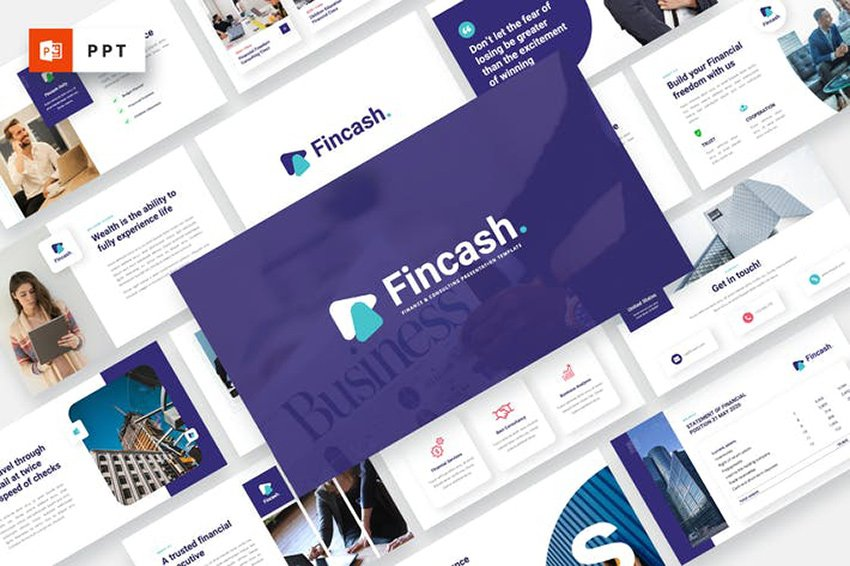 FINCASH - Finance & Consulting Powerpoint Template