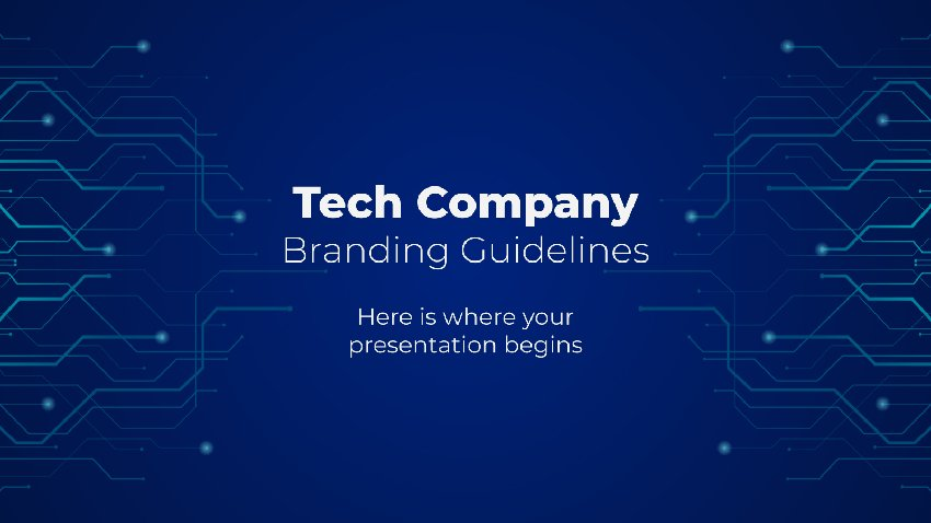 Tech Company - Cyber Security PPT Template Free Download