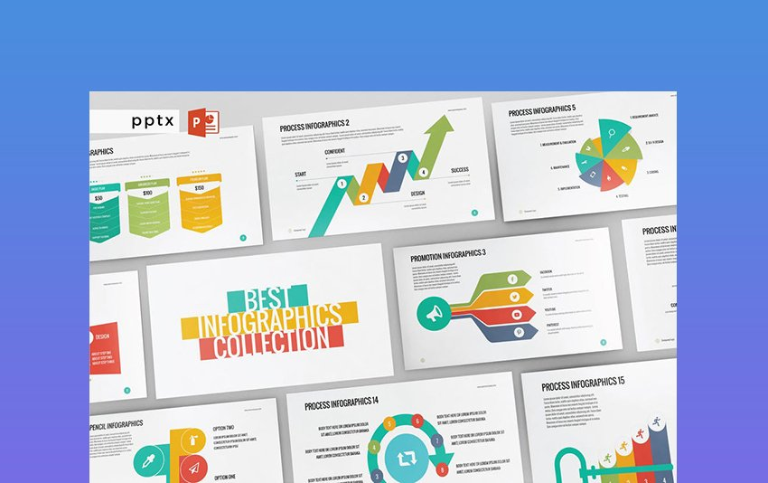 Infographic - PowerPoint List Design Template