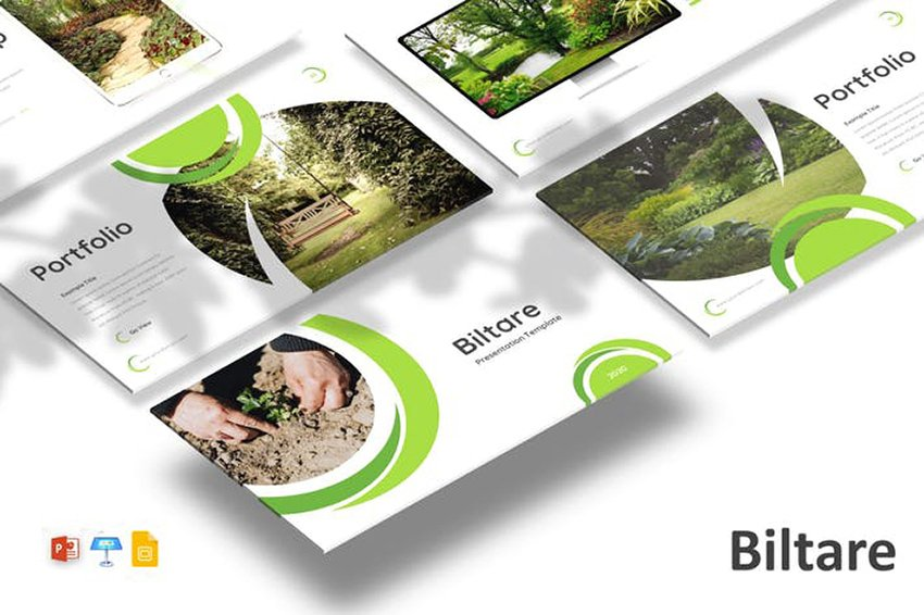 Biltare - Nature PPT Template, a premium template with custom image masks and mockups from Envato Elements