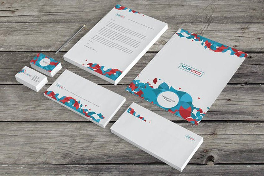 Modern Circles Stationery Set from Envato Elements