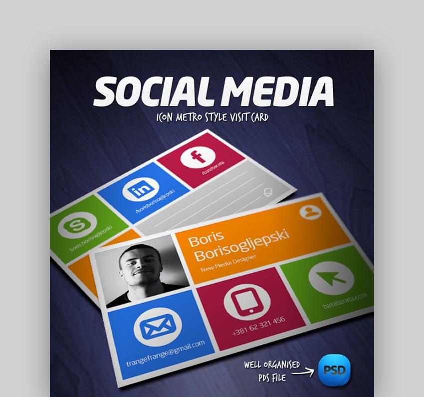 Social Media Visit Card