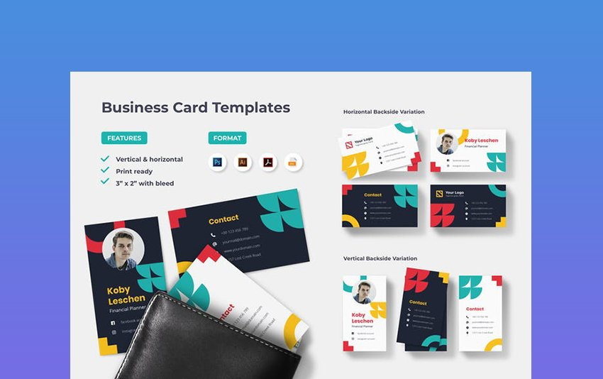 Professional Colors for Business Card Template