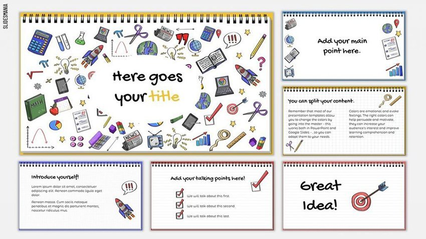 Doodles Free Template for Google Slides Presentations