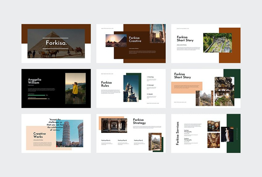 Forkisa - History Google Slides Template, a minimalistic historic template on Envato Elements