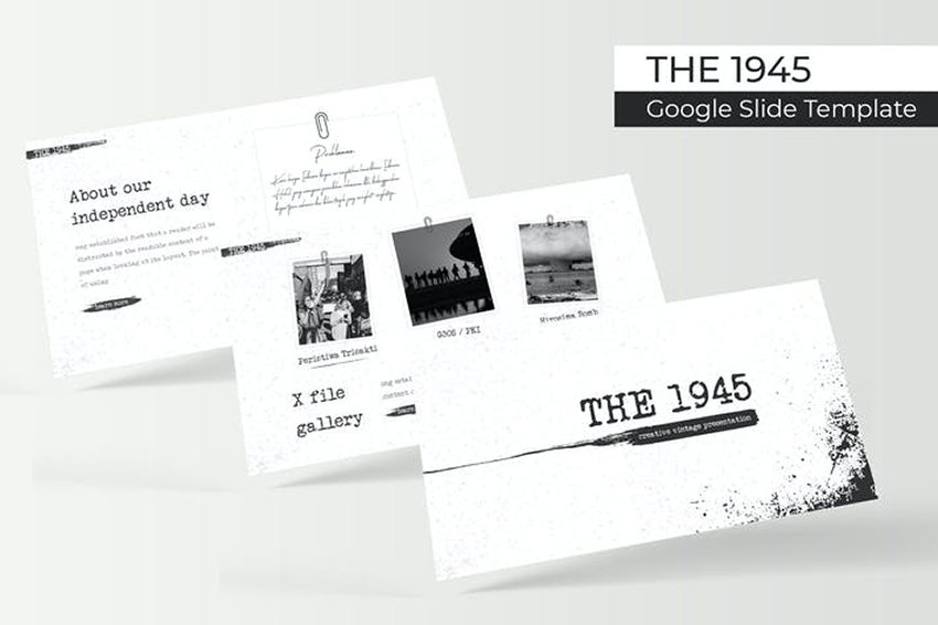 The 1945 - History Google Slide Theme on Envato Elements