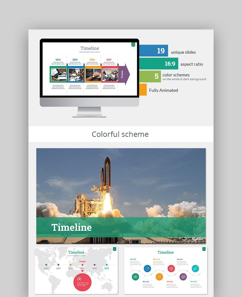 Timeline Themes for Google Slides History