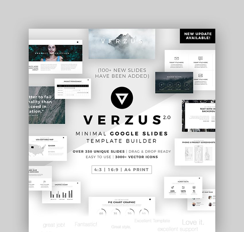 Verzus - Minimal Themes for Google Slides History