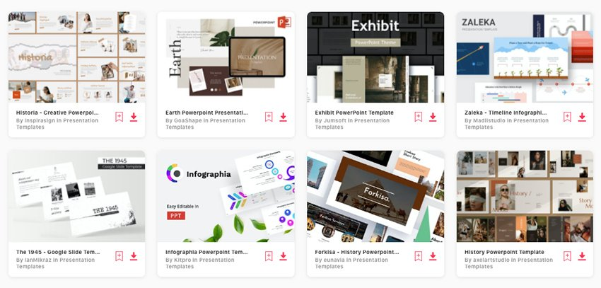 Premium History PowerPoint Templates from Envato Elements