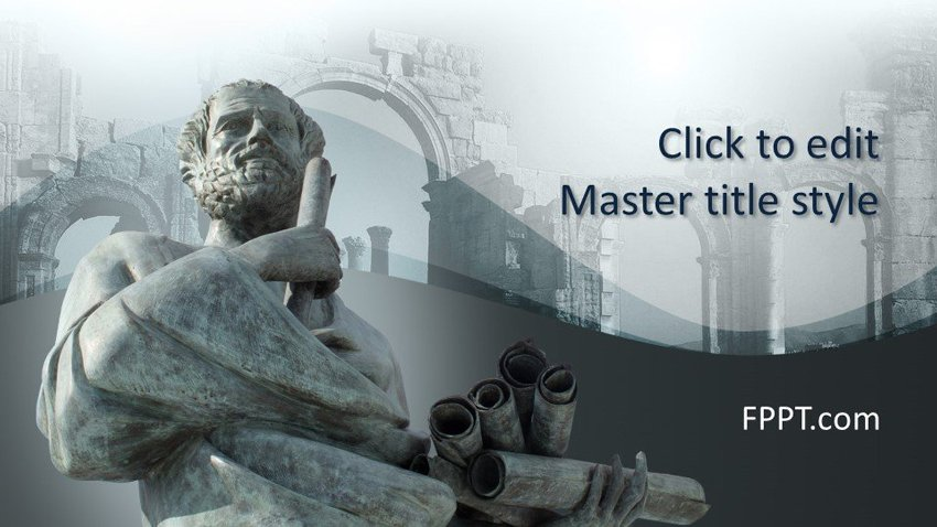 Socrates Free History PowerPoint Template Background
