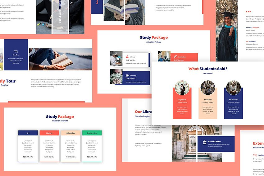 Academia - Education Google Docs Poster Template, with modern section creation