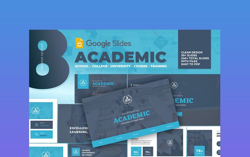 Academic - University School Google Drive Poster Template