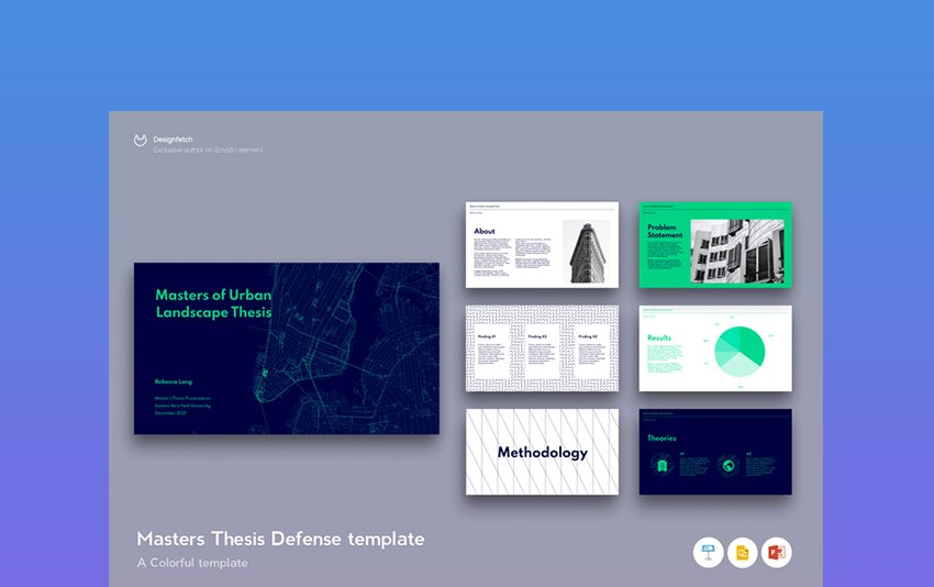 Master Thesis - Poster Template on Google Slide