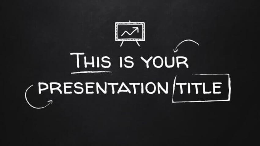 School Blackboard - Free Poster Template on Google Slides