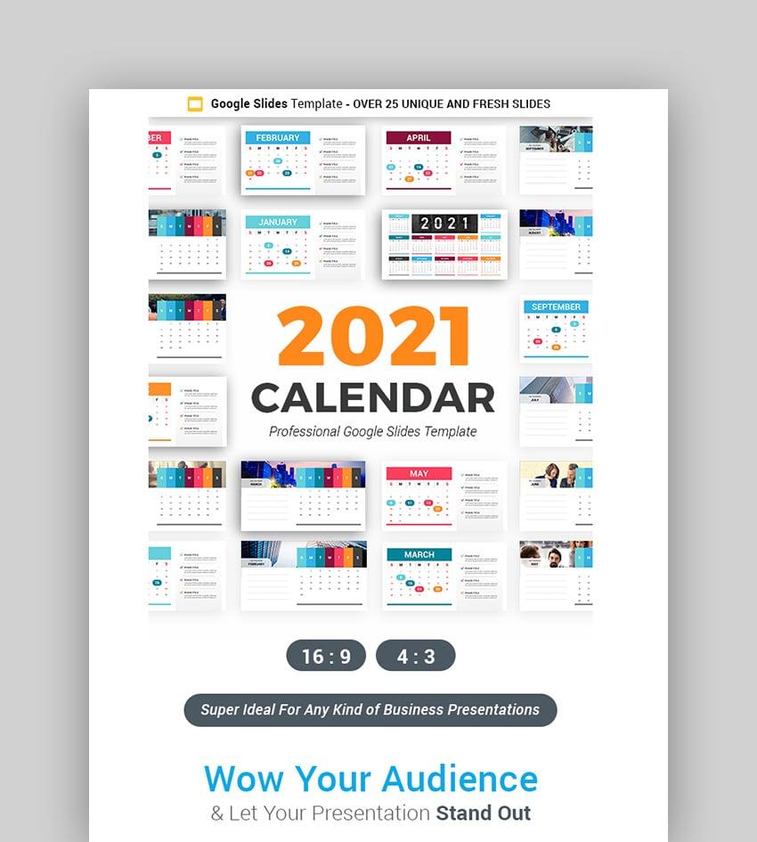 2021 Calendar Google Slides Template