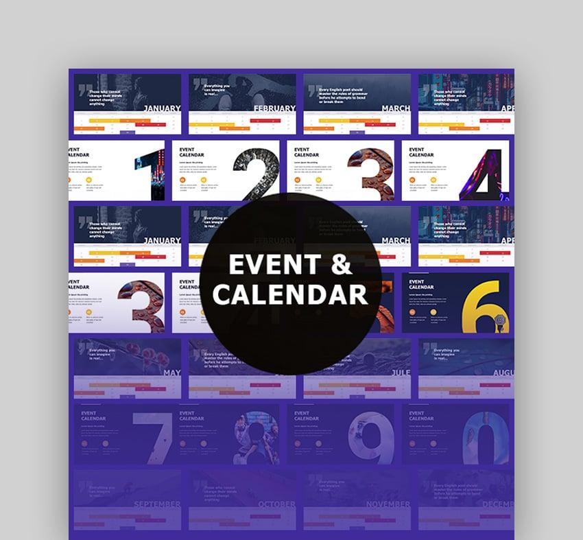 Event & Calendar Google Slides Themes