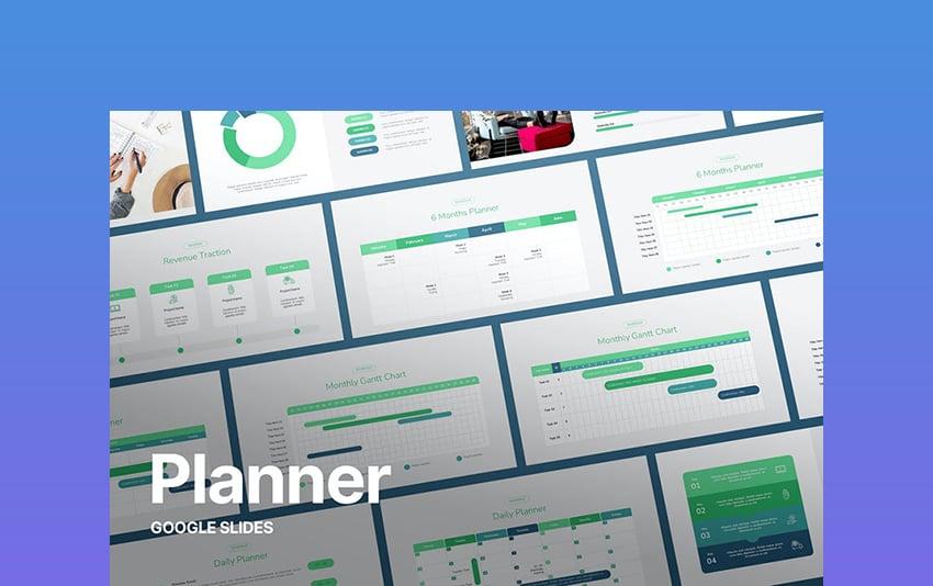 Rutina - Planner Template Google Slides