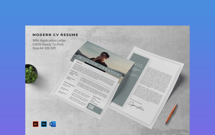 Resume, Cover Letter, and Resignation Letter Template Word Format