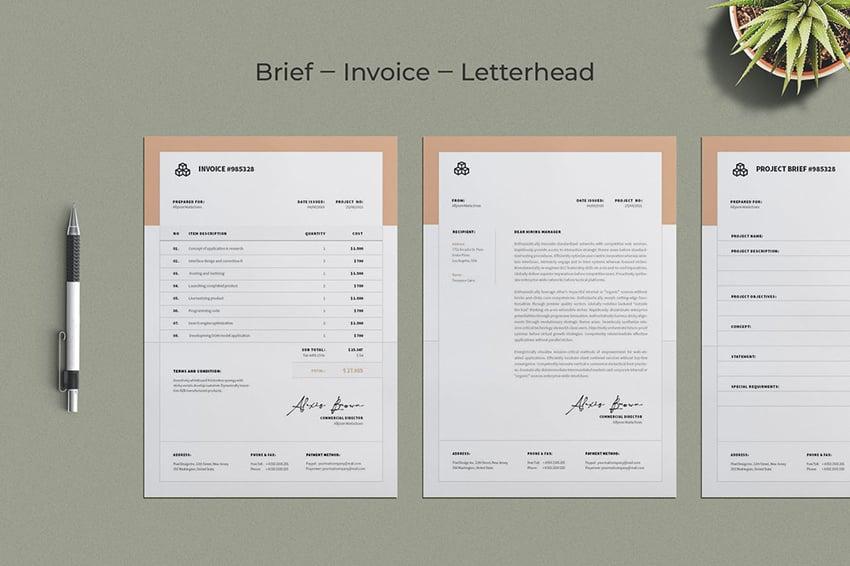 Brief-Invoice-Letterhead