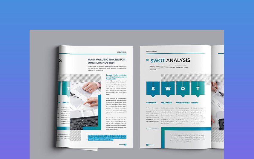 Kreate - Brochure Template With SWOT Analysis