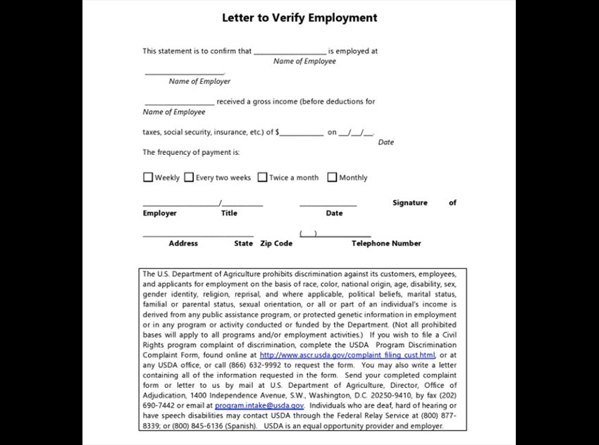 Letter 01 - Free Verification Work Letter Example