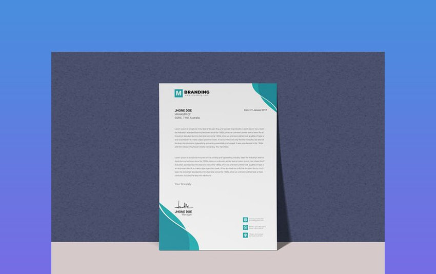 Letterhead -  Employment Confirmation MS Word Template