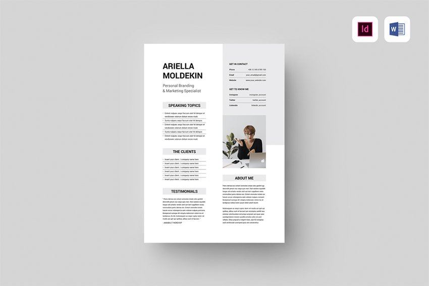 Speaker Sheet Template, one of Envato Elements' premium MS Word templates